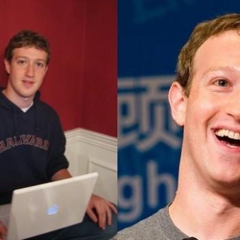 MARK ZUCKERBERG EM FOTO EM 2005 E EM 2019 (FOTO: REPRODUÇÃO/FACEBOOK)